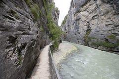 Desfiladeiro de Aare - Aareschlucht Foto de Stock Royalty Free