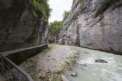 Desfiladeiro de Aare - Aareschlucht Foto de Stock