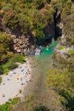 Desfiladeiro de Alcantara Foto de Stock