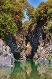 Desfiladeiro de Alcantara Fotos de Stock Royalty Free
