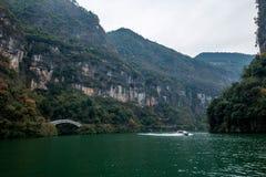 Desfiladeiro de Chongqing Wushan Daning River Small Three Gorges Fotos de Stock