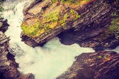 Desfiladeiro de Gudbrandsjuvet em Noruega Fotos de Stock Royalty Free