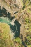 Desfiladeiro de Gudbrandsjuvet em Noruega Imagem de Stock Royalty Free
