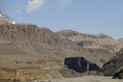 Desfiladeiro de Kali-Gandaki, mustang Imagens de Stock