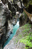 Desfiladeiro de Liechtensteinklamm (Áustria) fotografia de stock