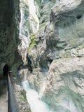 Desfiladeiro de Partnach, bavaria, Alemanha Fotografia de Stock