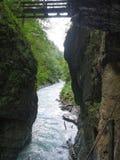 Desfiladeiro de Partnach, bavaria, Alemanha Fotos de Stock Royalty Free