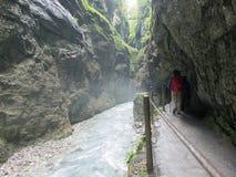 Desfiladeiro de Partnach, bavaria, Alemanha Imagem de Stock