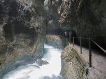 Desfiladeiro de Partnach, bavaria, Alemanha Imagens de Stock