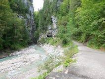 Desfiladeiro de Partnach, bavaria, Alemanha Fotografia de Stock Royalty Free