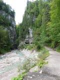 Desfiladeiro de Partnach, bavaria, Alemanha Imagem de Stock Royalty Free
