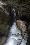 Desfiladeiro de Partnach (Partnachklamm) Fotos de Stock