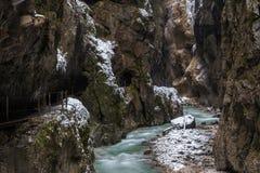 Desfiladeiro de Partnach (Partnachklamm) Foto de Stock