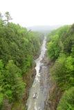 Desfiladeiro de Quechee, Vermont, EUA Foto de Stock Royalty Free