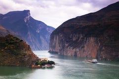 Desfiladeiro de Qutang foto de stock royalty free