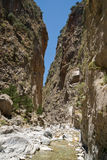 Desfiladeiro de Samaria Imagem de Stock Royalty Free