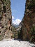 Desfiladeiro de Samaria Fotos de Stock