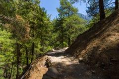 Desfiladeiro de Samaria Foto de Stock