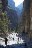 Desfiladeiro de Samaria. Crete, Greece Foto de Stock Royalty Free