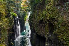 Desfiladeiro de Takachiho no outono fotos de stock