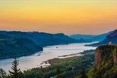 Desfiladeiro do Rio Columbia, OU Imagem de Stock