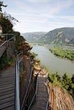 Desfiladeiro do rio de Colômbia, noroeste pacífico, Oregon Foto de Stock
