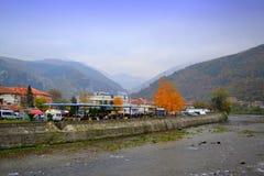 Desfiladeiro do rio de Vucha, Bulgária Fotografia de Stock Royalty Free