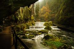 Desfiladeiro do ` s de Edmund no parque nacional de Suíça checo Imagem de Stock