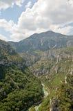 Desfiladeiro du Verdon do ponto de vista Fotos de Stock Royalty Free