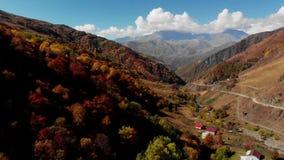 Desfiladeiro nas montanhas de Geórgia no outono video estoque