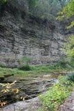 Desfiladeiro no parque estadual E do vale de Watkins (NY) Fotos de Stock Royalty Free