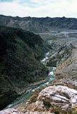 Desfiladeiro nos Andes, Mendoza, Argentina foto de stock royalty free