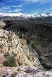 Desfiladeiro nos Andes, Mendoza, Argentina foto de stock