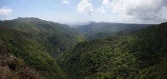Desfiladeiro preto do rio, Maurícias fotos de stock royalty free