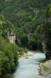 Desfiladeiros de Tarn - garganta perto do La Malene Imagem de Stock Royalty Free