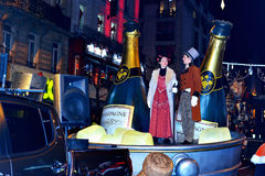 Desfiladero del desfile de la Navidad de RTL Imágenes de archivo libres de regalías