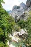 Desfiladero del Río Cares, Cabrales ( Spain ) Stock Image