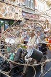 Desfiladero durante el desfile de Zinneke Foto de archivo