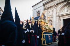 Desfilan los procesionales en Valladolid Imagen de archivo libre de regalías