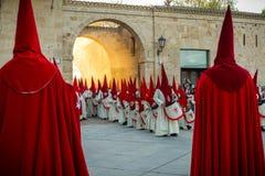 Desfilan los procesionales en Zamora Fotos de archivo libres de regalías