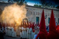 Desfilan los procesionales en Zamora Foto de archivo libre de regalías