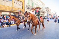 Desfile节日Mexicanas 库存照片