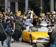Desfile 2009 de Pittsburgh Steeler Imágenes de archivo libres de regalías