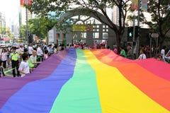 Desfile 2009 del orgullo de Hong-Kong Imágenes de archivo libres de regalías
