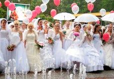 Desfile 2010 de las novias Imagen de archivo libre de regalías