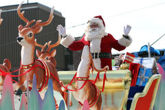 Desfile 2010 de Santa - de Papá Noel imagenes de archivo