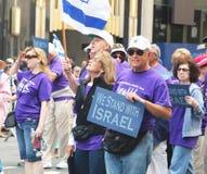 Desfile 2011 del día de Israel Imagen de archivo
