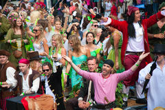 Desfile 2012 del canal de Amsterdam fotos de archivo
