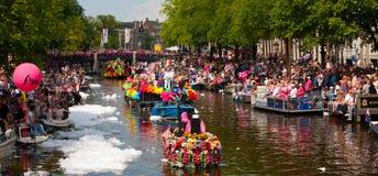 Desfile 2012 del canal de Amsterdam imagen de archivo