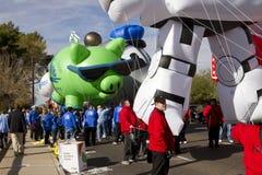 Desfile 2012 del cuenco de la fiesta Inflatables grande Fotografía de archivo libre de regalías